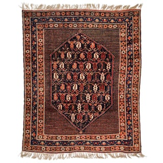 Antique Afshar Rug - 4′2″ × 5′1″