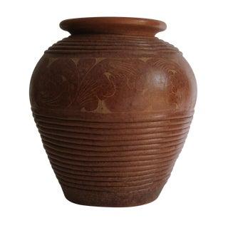 Carved Terracotta Vase