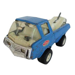 Vintage Blue Tonka Tow Truck Toy