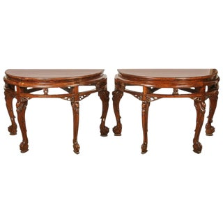 Chinese Center table or Pair of Demi Lunes