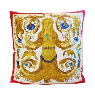 Custom Hermes Ceres Mermaid Silk Pillow Cushion