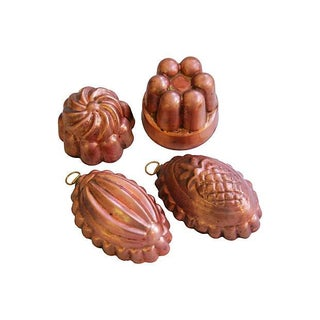 Collection of 1960s Copper Molds - Set of 4