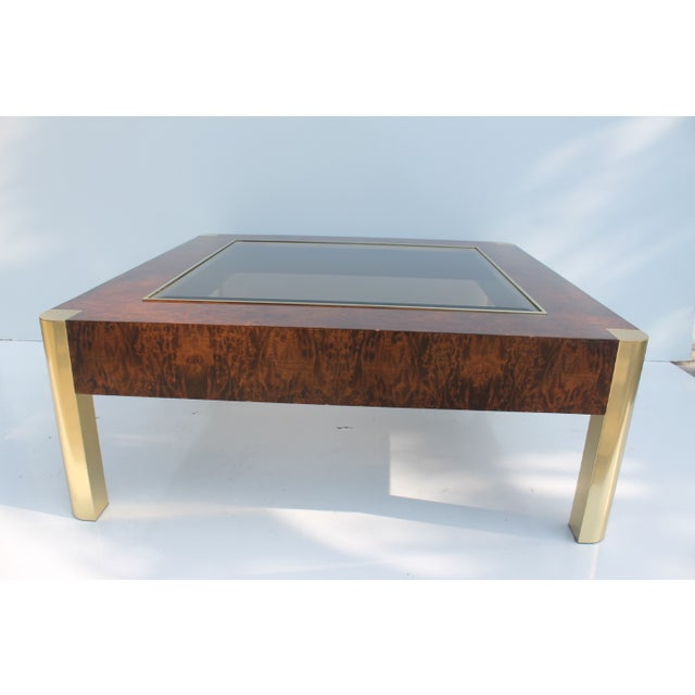 Century Furniture Burl & Brass Coffee Table - Image 8 of 10