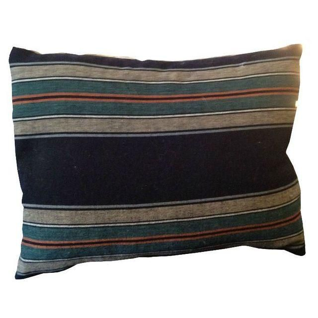Image of Japanese Indigo Striped Pillows - A Pair