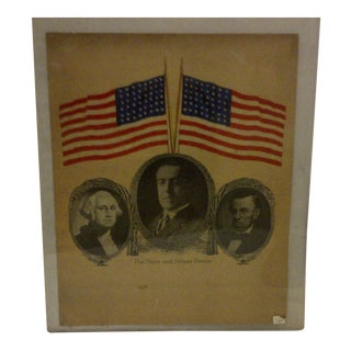 "Circa 1917 Vintage Presidential Poster ""The Stars and Stripes Forever"""