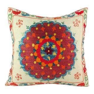 """Uzbek Suzani Pillow V - 16"""" x 16"""""""