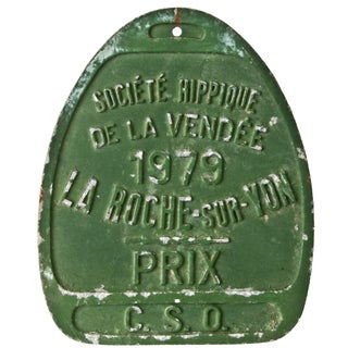 Vintage French 1979 Award Plaque