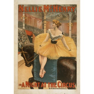 19th-C. Night at the Circus Theater Print