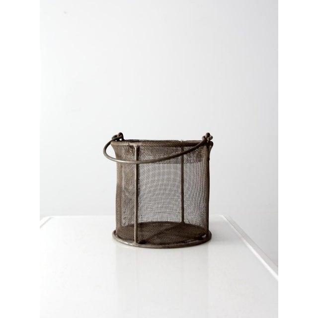 vintage wire mesh basket - Image 3 of 7
