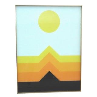 1970s OpArt Geometric Framed Print