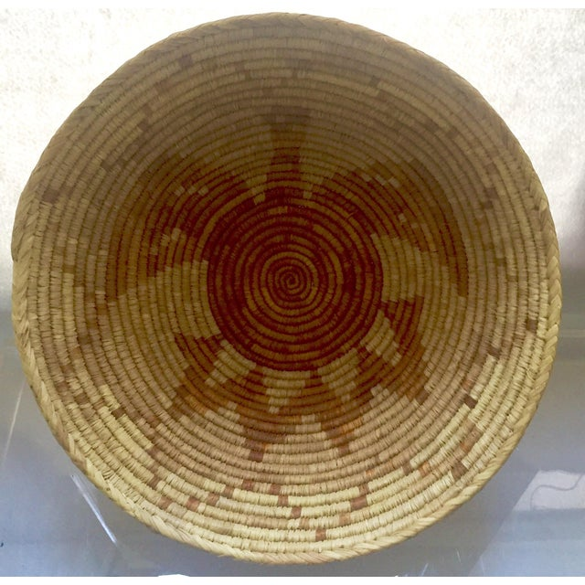 Vintage Native American Apache Pima Coil Basket - Image 5 of 11