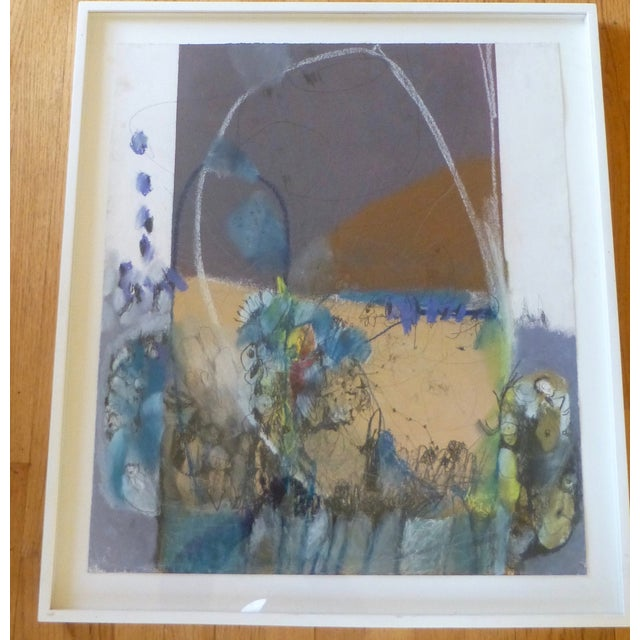 Large Abstract Mid-Century Painting - Image 3 of 11