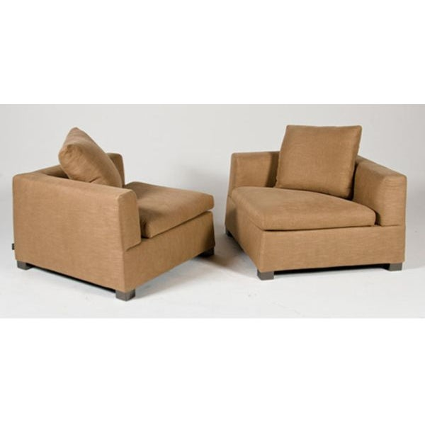 Image of Minotti 'Gilbert' Lounge Chairs - A Pair