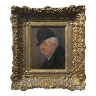 E. Harbinger - Old Scottish Gentleman - 19th century oil Painting
