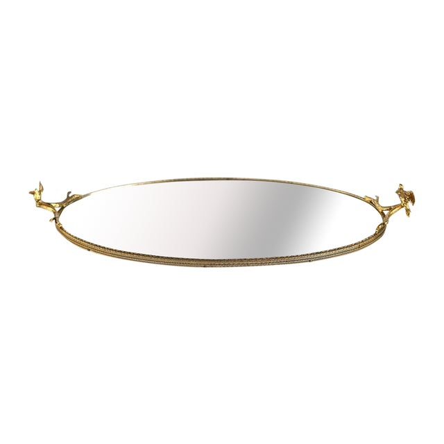 Gilt Vanity Mirror With Bird Accents - Image 1 of 7