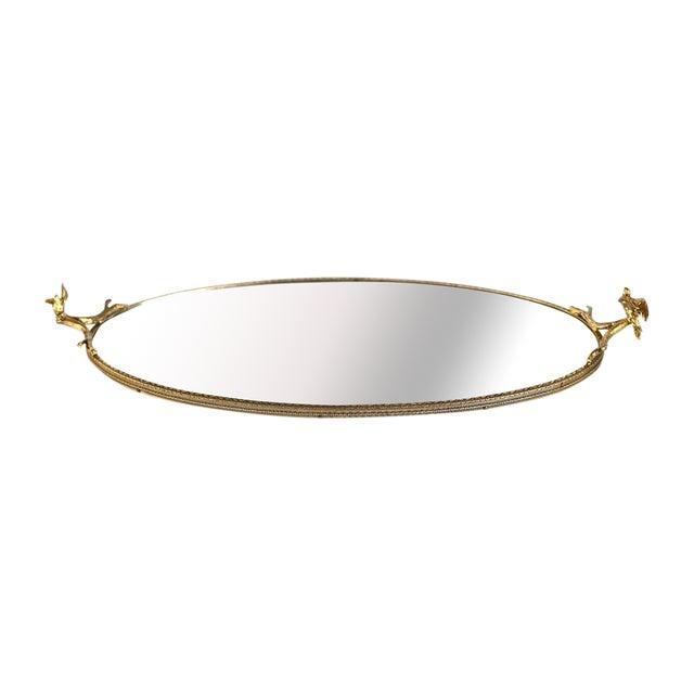 Image of Gilt Vanity Mirror With Bird Accents