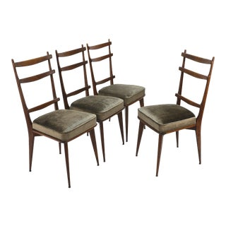 Sculptural Italian Dining Chairs - Set of Four