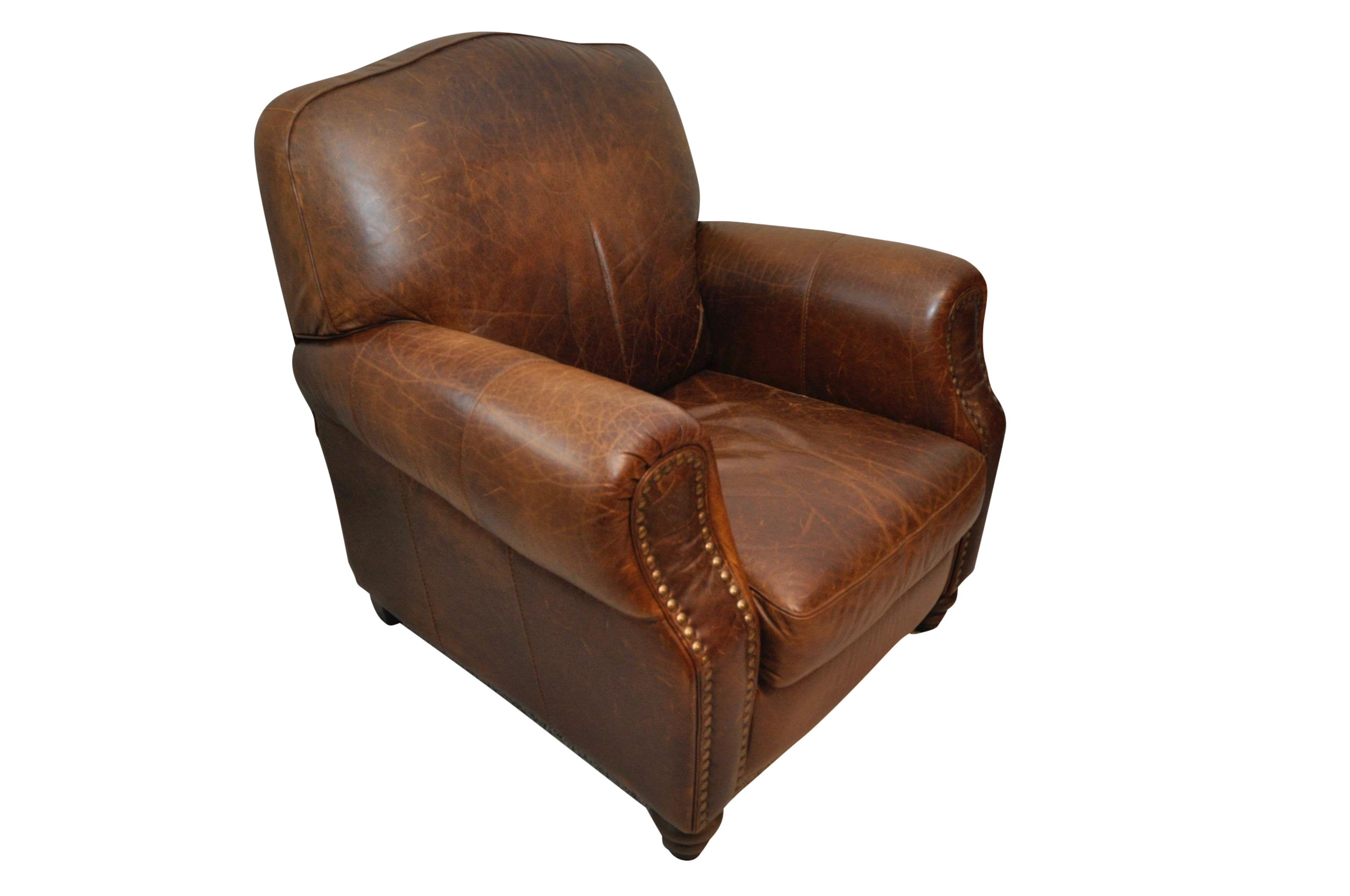 cognac leather recliner club chair - Brown Leather Club Chair