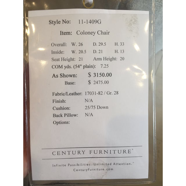 """Century Furniture Linen Skirted """"Coloney"""" Chair - Image 7 of 7"""