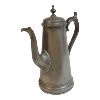 19th Century English Pewter Teapot Sheffield England