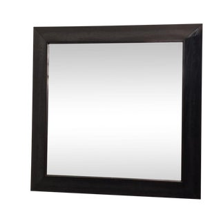 Modern Large Beveled Dark Wood Frame Mirror
