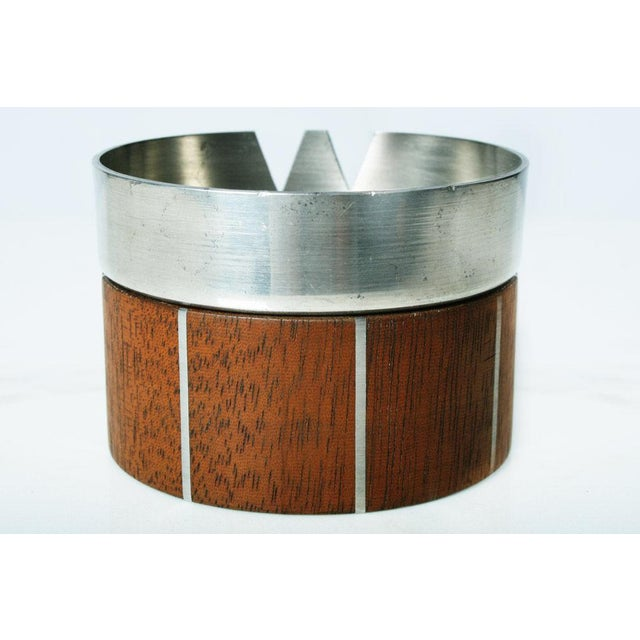 Walnut and Pewter Ashtray by Paul Evans - Image 6 of 7