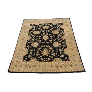 "Afghani Sultan Abad Hand-Knotted Wool Rug - 4'8"" X 6'5"""