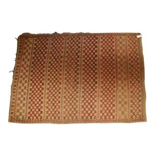"Vintage Moroccan Straw Rug - 6'3"" x 8'10"""