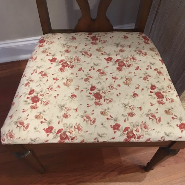 Lenoir Broyhill Vintage Pecan Chairs - Set of 6 - Image 9 of 11