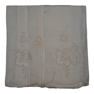 Vintage Embroidered Tea Towels - Set of 3