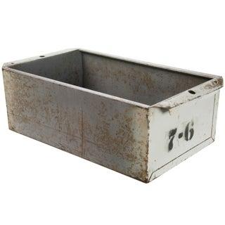 Vintage Industrial Steel Storage Drawer Bin