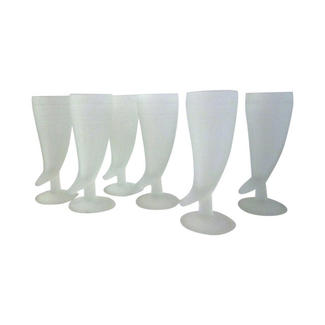 Image of Vintage Stag Horn Pilsner Glasses - Set of 6