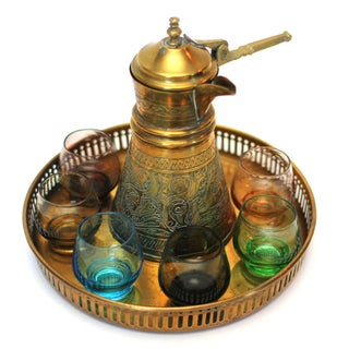 Indian Brass Tea Set