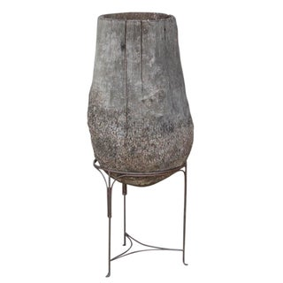 Ash Palm Planter On Stand