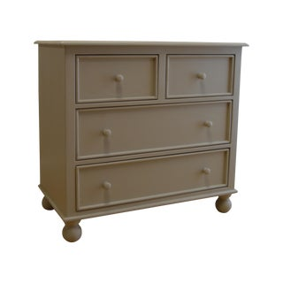 4-Drawer Grey Bunfoot Dresser