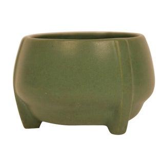 Matte Green Art Pottery Buttress Vase