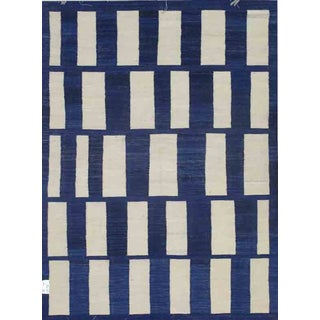 "Pasargad Art Deco Style Wool Kilim Size - 5'8""x7'8"
