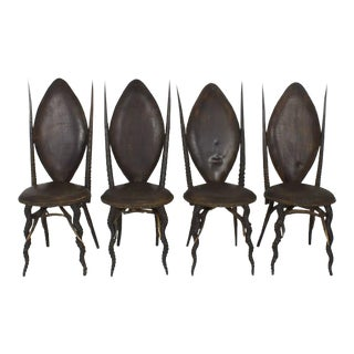 Early 20th Century Set of Six Horn Dining Chairs, Exceptional