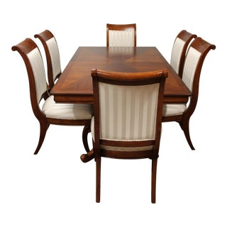 Cherry Pedestal Dining Table and Chairs - Dining Set