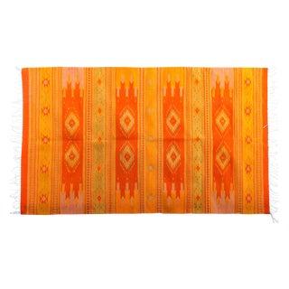 Orange & Yellow Southwestern Wool Rug - 3′6″ × 6′