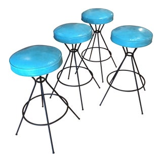 Vintage Mid-Century Bar Stools - Set of 4