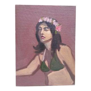 Vintage Portrait of a Woman in a Bikini