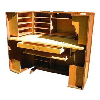 Vintage Mid-Century Folding Desk Cabinet