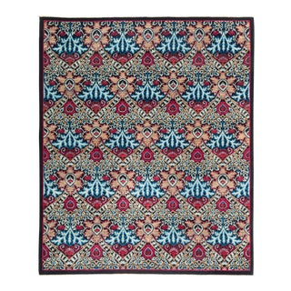 """Eclectic Hand Knotted Area Rug - 8' 2"""" X 9' 10"""""""