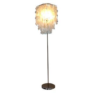 West Elm Standing Capiz Lamp
