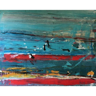 """""""Equestrian landscape,"""" Large Abstract Painting"""