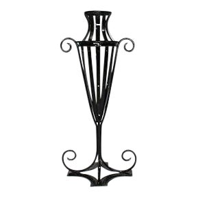 Wrought Iron Garden Urn