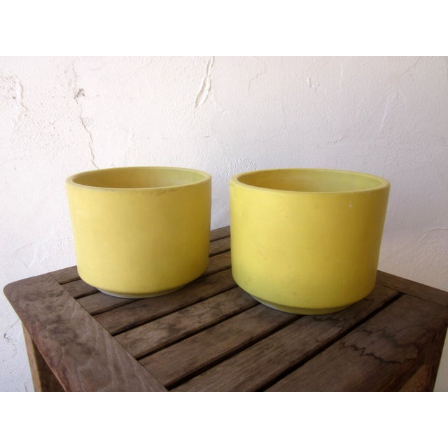 Yellow Gainey Mid Century Modern Pots - Pair of 2 - Image 5 of 9