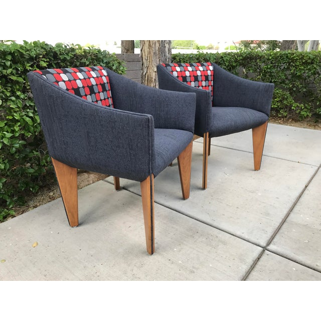 Mid-Century Modern Fin Leg Lounge Chairs - A Pair - Image 9 of 11