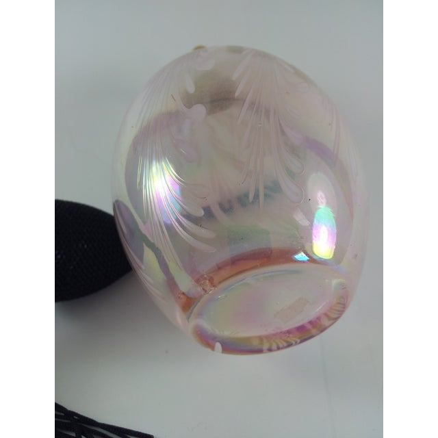 Image of Czech Pink Feather Art Glass Perfume Atomizer
